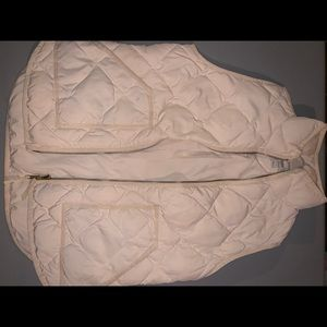 J. Crew light weight quilted vest size small